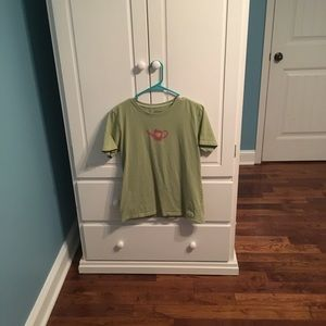 Life is Good women's small green t shirt.